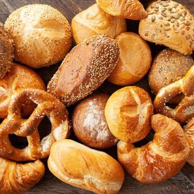 Variety of German bread rolls